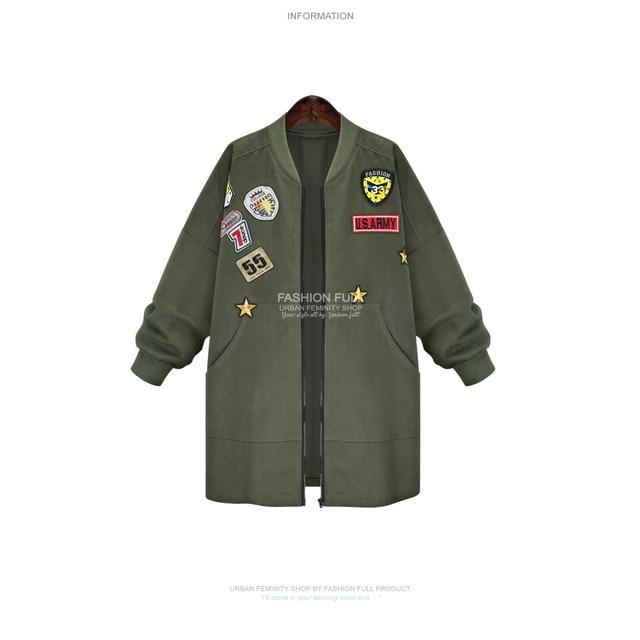 Plus Size Women Fashion OverCoat Sale Long Sleeve Overweight MM Jacket Coat Casual Long Cardigan Coat US Army Outwear Coat KS043
