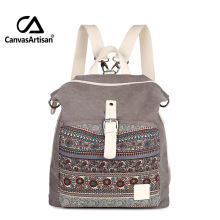 Canvas Printing Backpack Women School Bags for Teenage Girls Cute Bookbags National Shoulder Backpacks Female Crossbody Bags