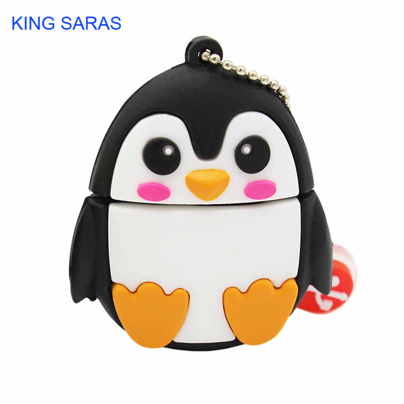 Raja Saras 64GB Lucu Kartun Penguin Owl Fox Style USB Flash Drive USB 2.0 4GB 8 Gb 16GB GB 32GB Vreative Flashdisk Hadiah