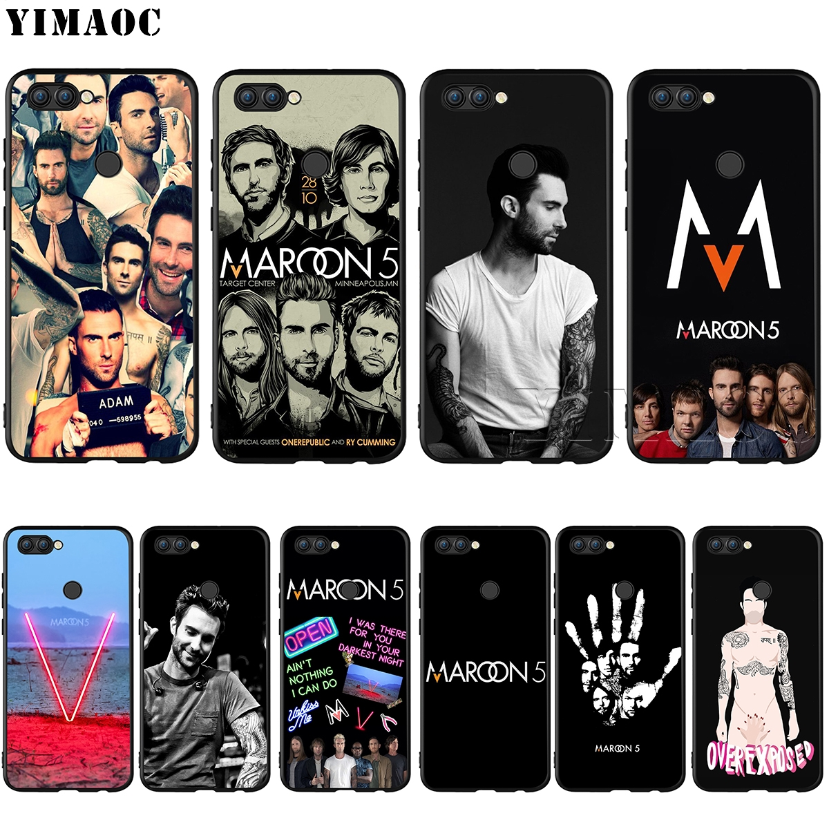 YIMAOC Maroon 5 Adam Levine Silicone Case for Huawei Honor Mate Y6 6A 8 9 10 P8 P9 P10 P20 P Smart Lite Pro 2017