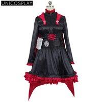 Anime RWBY Ruby Rose' Cosplay Costume Full Set Women Girls Uniform Halloween Carnival Party Red Black Cloak
