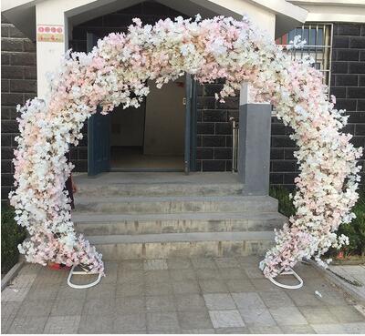 Вишня арки. Круглый цветок двери. Свадебные фермы арки .. 013