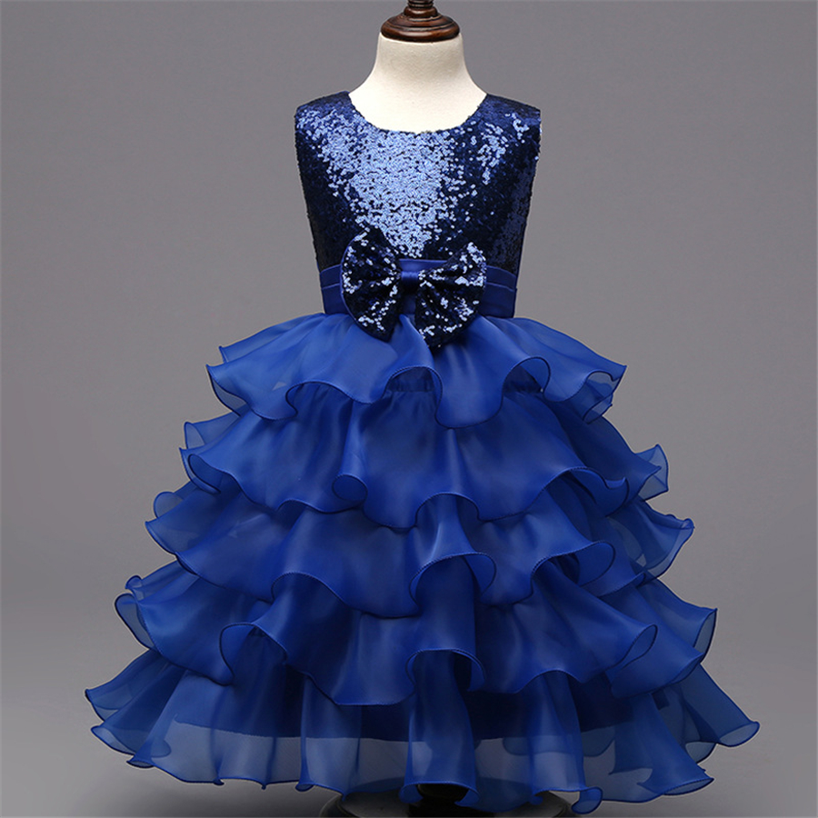Girl Performance Dress 4 7 8 9 Children Sleeping Beauty Princess Kids Party Dresses Blue Girls Ball Gown Cosplay Costume XD19-C hp 90b hp90b auto range digital multimeter digital avo meter