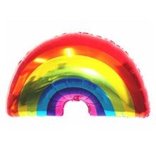 Здесь можно купить  30pcs/lot New Design Rainbow Foil Balloon 90*50cm Birthday Party Decoration Cartoon Aluminum Balloon Large Size Rainbow Balloons  Festive & Party Supplies