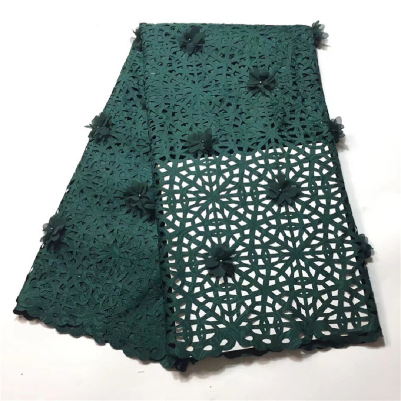 New latest nigerian french laser cut lace fabric Embroidered High Quality African Lace Fabric 2018 Lace Fabric For Party SH008