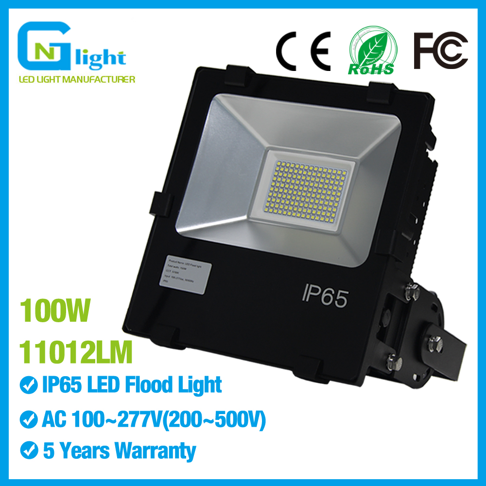 250W HPS Equivalent IP65 Rated 100W SMD LED Flood Light