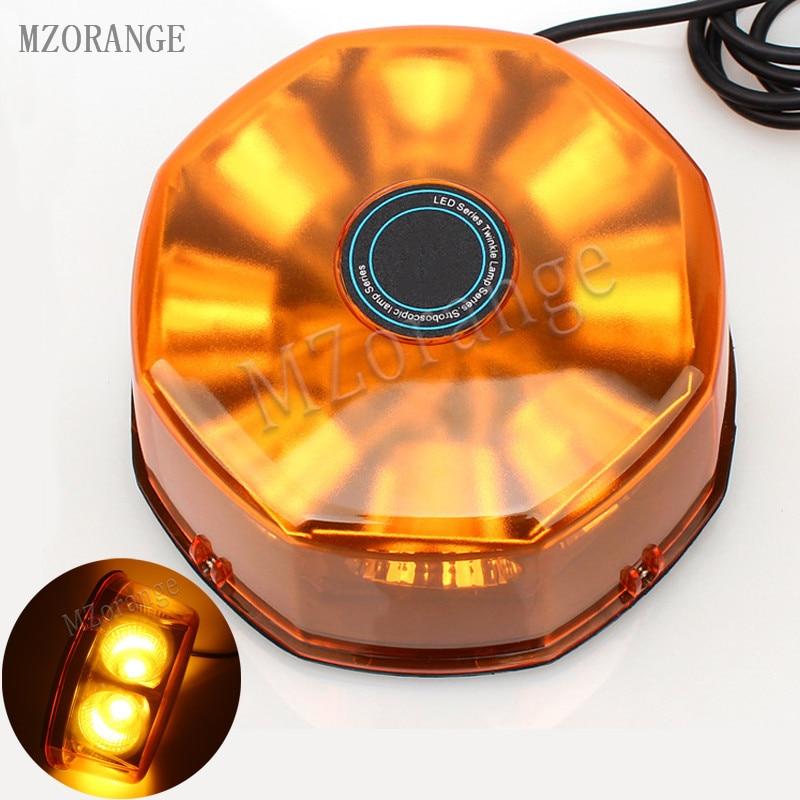 MZORANGE удара 40W 8 светодиод желтый синий автомобиль Строб сигнальная лампа магнитный Конной Полиций Сид проблесковый маячок свет