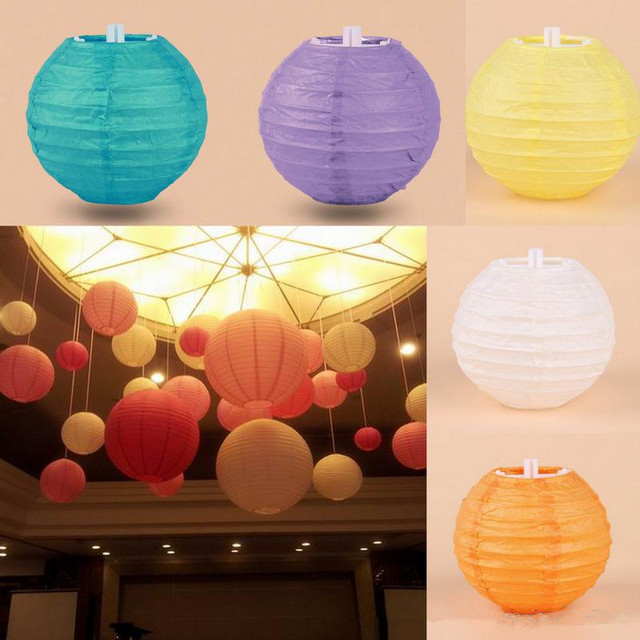 Multi Colors Option 4inch 10cm Japanese Mini Rice Paper Lamp Lantern Ball  Hanging Wedding Lampion Party