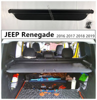 Rear Trunk Cargo Cover Security Shield For JEEP Renegade 2016 2017 2018 2019 High Qualit Auto Accessories