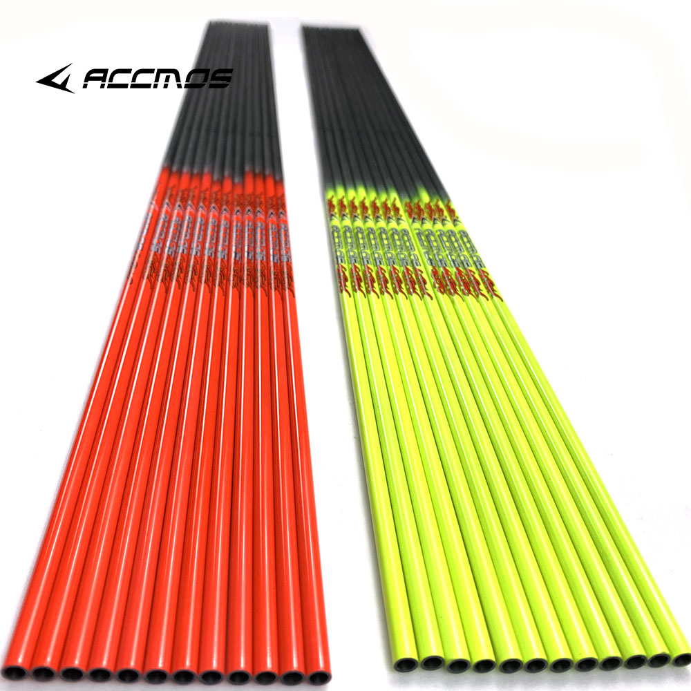 Bow & Arrow 6/12pcs Hottest Spine 600/700/800/900 Pure Carbon Arrow Shaft 31 Inch Inner Diameter 4.2mm For Recurve Bow Traditional Bow