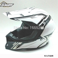 Бесплатная доставка безопасности более шлем выстрел стекловолокна анфас шлем мотоцикла гонки по бездорожью шлем двойной