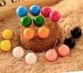 Min $7 (orden de la mezcla) ronda de caramelo Eliseo Japón Pendientes QQ dulces círculo pendiente sencillos Pendientes de la manera Para Las Mujeres