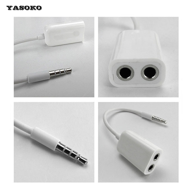 Cable adapter 3.5mm Coupler Line Earphone Audio Splitter Cables Double Plug Use Cord Headphone Couples audio cable free shipping foonbe y type 3 5mm headphone male to dual female audio cables headphone splitter adapter plug stereo earphone splitters