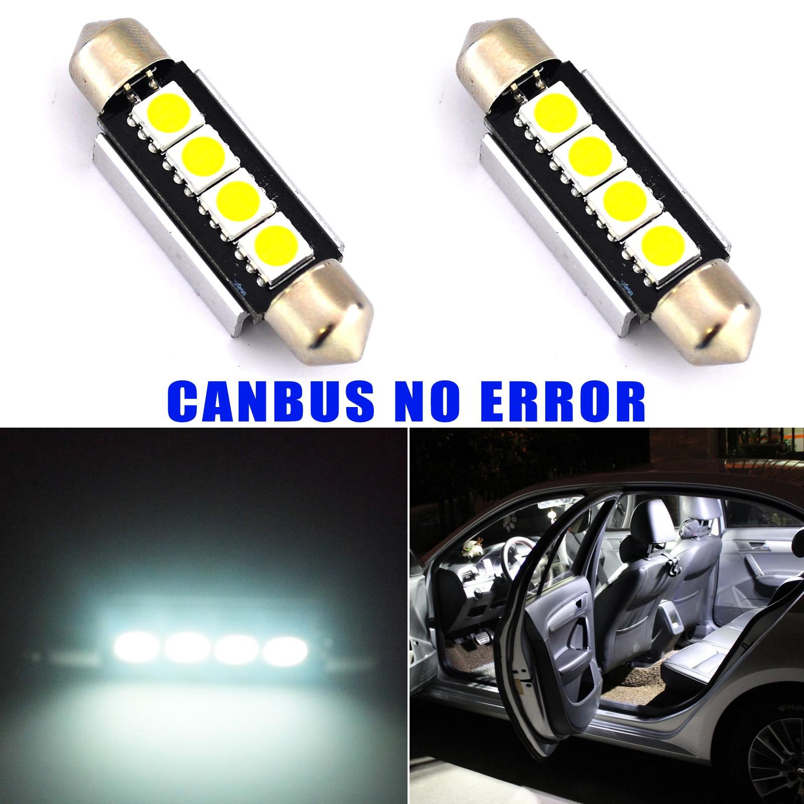 2 шт. Автомобиль Профессиональный Купол 5050 SMD <font><b>LED</b></font> Лампочка Интерьер Гирлянда <font><b>Canbus</b></font> <font><b>Led</b></font> 42 ММ Super White
