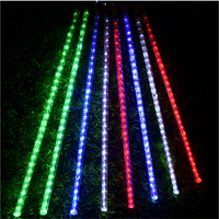 LED Christmas light , tree pendant led meteor tube ,8pcs 50cm tubes/set with adapter,85 265Vac input indoor holiday light