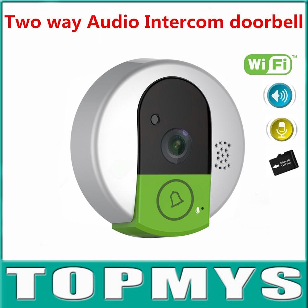 10pcs/lot Vstarcam Intercom doorbell C95 two way audio door phone indoor camera HD 720P CMOS Sensor Wifi Wireless Doorbell