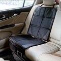 LUNDA Protetor de Criança ou de carro do bebê Do Assento de Carro de couro de Luxo tampa de assento Fácil de Limpar Protetor de Assento de Segurança Anti Slip Universal preto