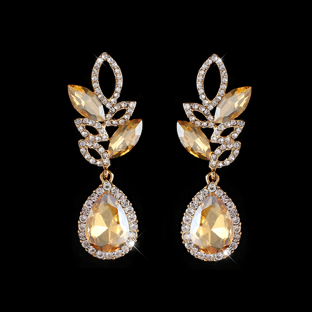Ocesrio Clearance Silver Drop Earrings With Rhinestone Crystal Long Hanging Wedding For Bridal