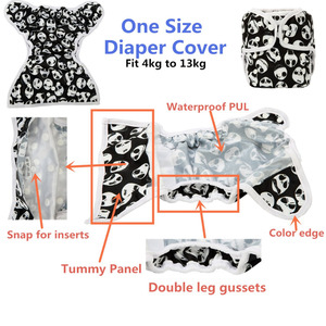 Image 4 - [Sigzagor]6 One Size Baby Cloth Diapers Covers Nappies Adjustable Waterproof PUL Double Gusset OS 4kg to 13kg,40 Designs