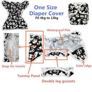 Image 4 - [Sigzagor] couches de couches en tissu, taille unique, réglable, imperméable à Double gousset, OS de 4kg à 13kg,40 modèles