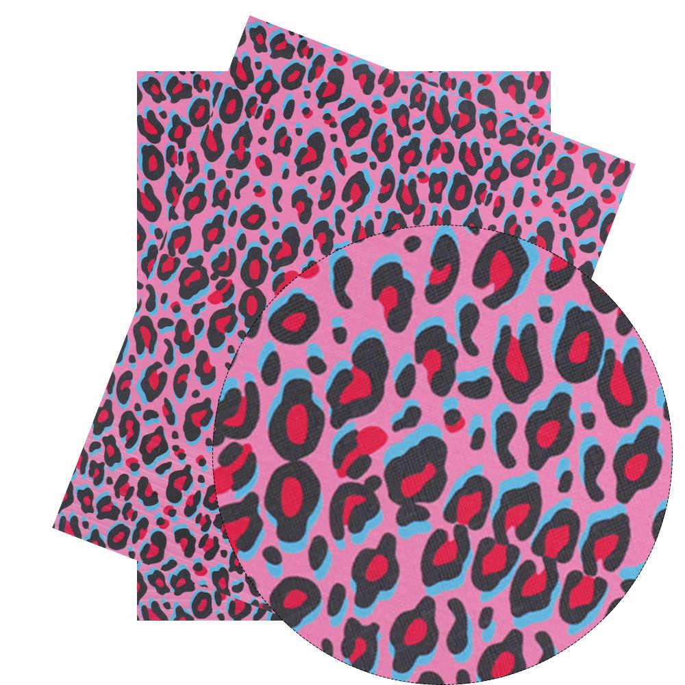 Xugar 22*30cm serpiente imitación cuero sintético tela leopardo tela DIY materiales para el hogar textil decorativo bolso ropa