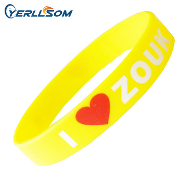 YERLLSOM 200PCS/Lot Free Shipping Customized Screen Print 2 Colors Rubber Silicone Bracelets with personal logo for Kids P032302