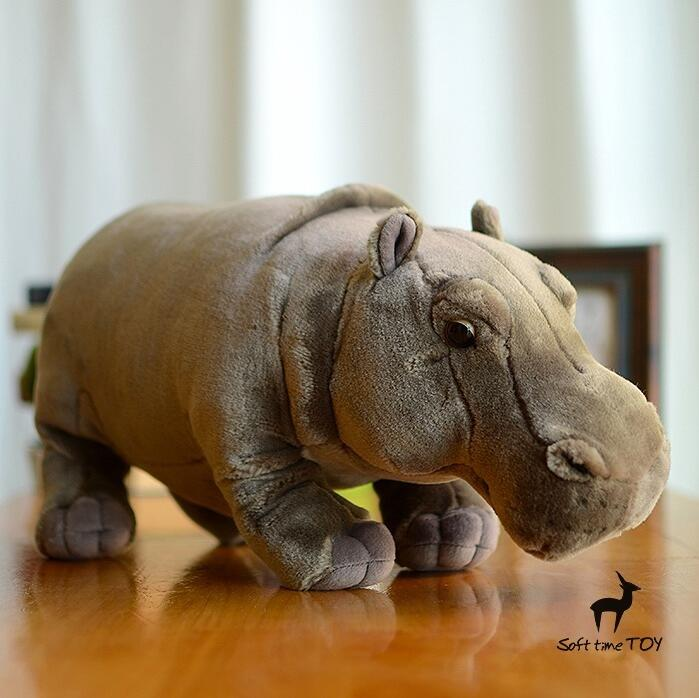 Big Toy Plush Hippo Doll  Cute African  Wildlife Simulation  Stuffed Animals  Children'S Toys Gift super cute plush toy dog doll as a christmas gift for children s home decoration 20