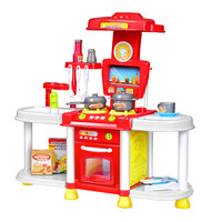 Classic Toys Children Kitchen Toys Set Cooking Tools Kids Pretend Play Simulation Tableware Toys with 20pcs foods+Tools