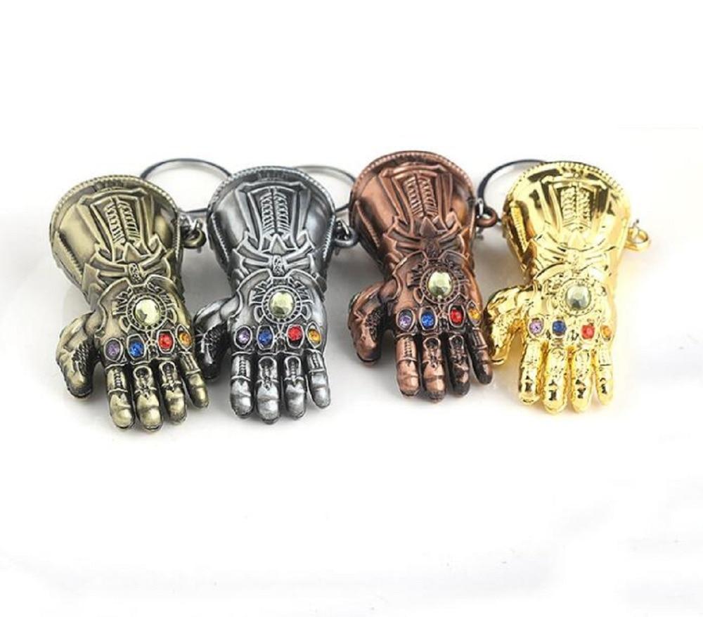 Avengers Infinity War Thanos Infinity Gauntlet Gloves Armor Model Key Chain Keyc