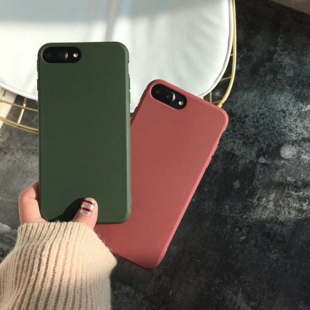 for iPhone X XR XS MAX Case Candy Color TPU Silicone Case Matte Frosted Soft Cover Case for iPhone 8 6 6S 7Plus 5 5s se coque