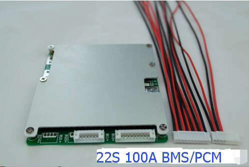22S Li-ion/Lipo Batteries Protection Board BMS System 92.4V 100A Continuous Discharge Current