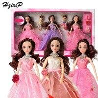 HziriP New Girls Dress Up Pretend Play Toy Sets Fashion High Quality Wedding Doll Princess Model