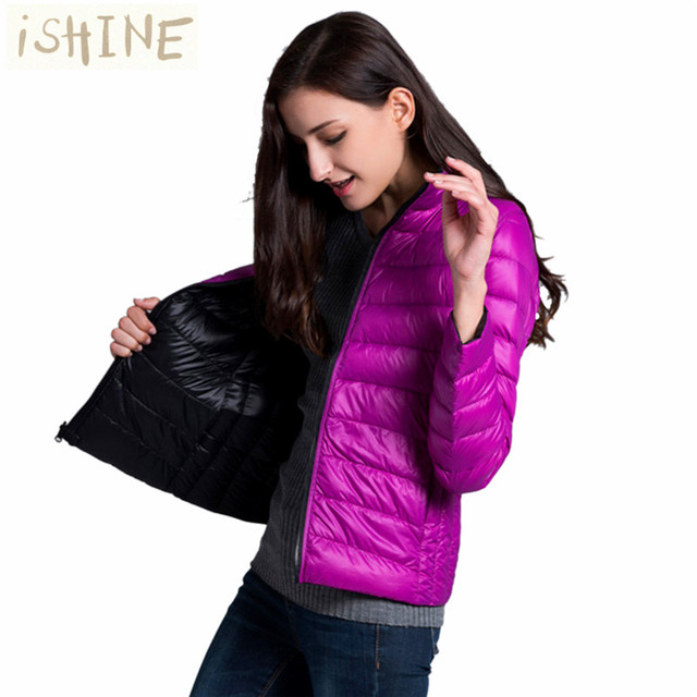 iSHINE Women Double Side Coat Winter Parkas Slim Jackets Brand Design Female Warm Clothing