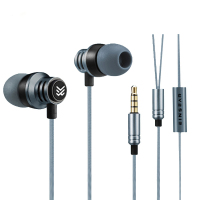 Original EINSEAR T2 In Ear Earphone 3 5MM Stereo Dynamic Earbuds Aerospace Metal Earphone For IPhone