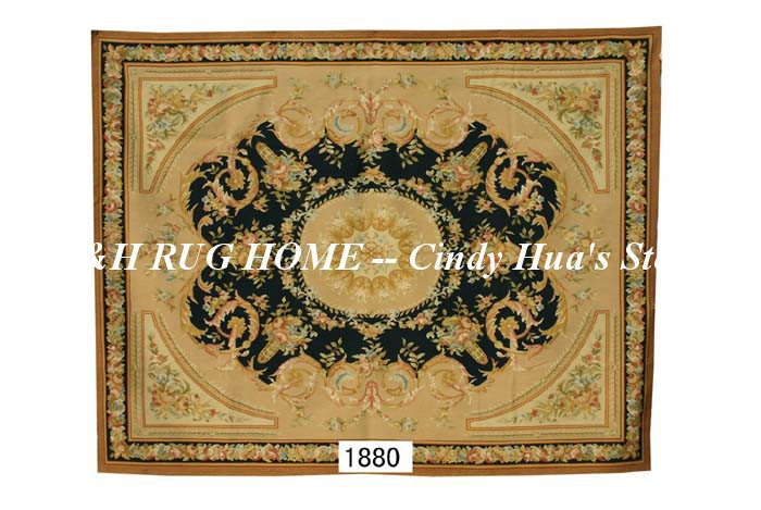 Free shipping 8x10 Aubusson rugs Black Beige medallian aubusson rugs  for home decoration bedrooom rugsFree shipping 8x10 Aubusson rugs Black Beige medallian aubusson rugs  for home decoration bedrooom rugs