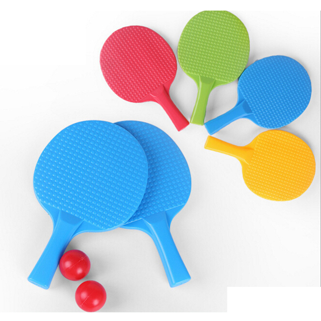 Kids Outdoor Sports Play Game Toy Plastic Ping Pong Racket With 2 Ball Toys  Kids