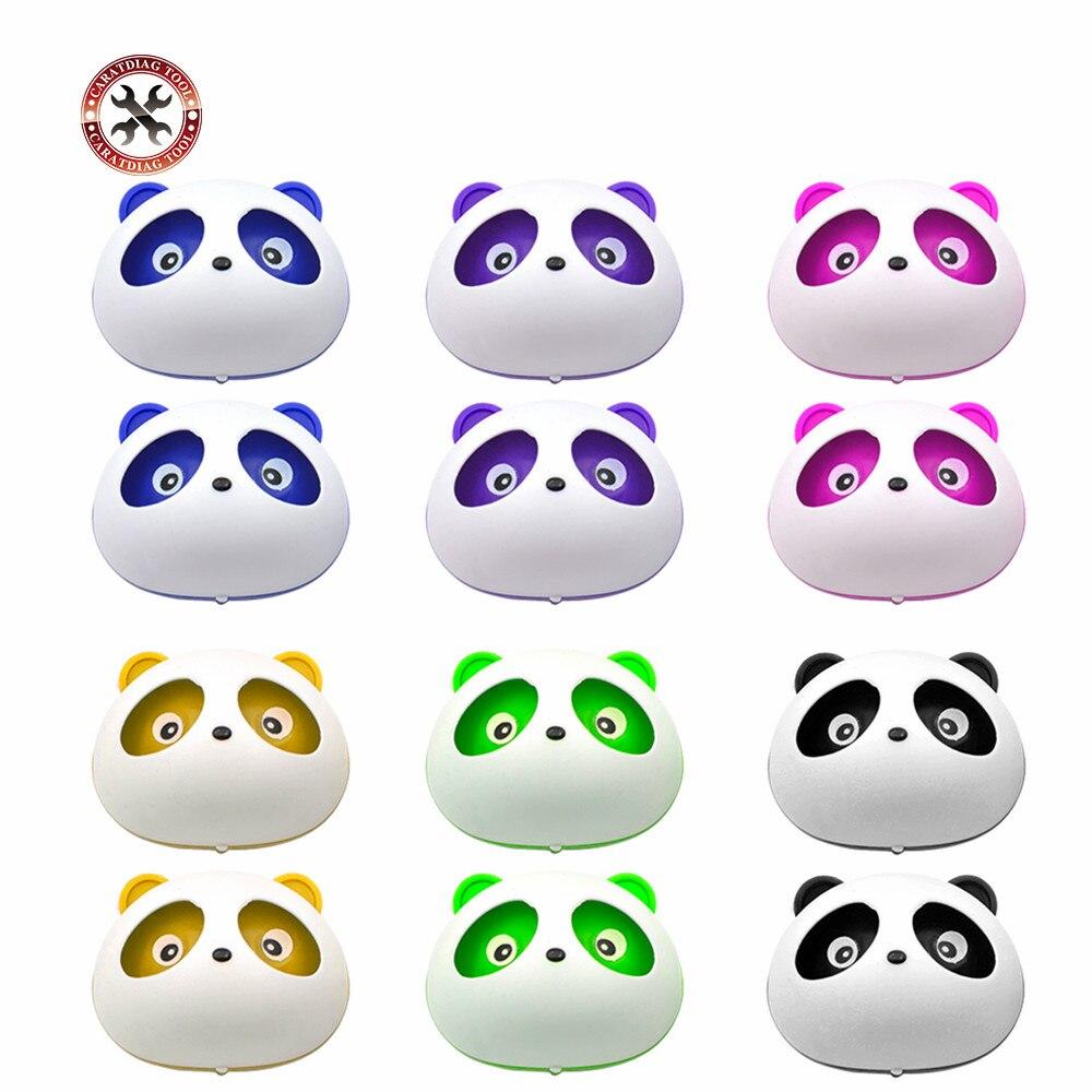 Araba Styling klima havalandırma hava spreyi araba çıkış parfüm sevimli Panda gözler olacak atlama 6 renkler oto İç dekorasyon