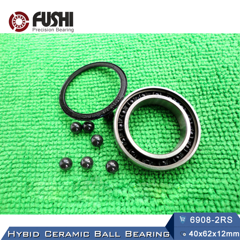 6908 Hybrid Ceramic Bearing 40x62x12 mm ABEC-1 ( 1 PC ) Bicycle Bottom Brackets & Spares 6908RS Si3N4 Ball Bearings 7805 2rsv 7805 angular contact ball bearing 25x37x7 mm for fsa mega exo raceface shimano token bb70 raceface bottom brackets page 1