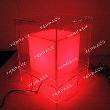 Акриловый светодиодный тумбочки, акриловое освещение прикроватные столы, мебель для спальни