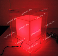 Acrylic LED Nightstands Acrylic Lighting Bedside tables Bedroom furniture