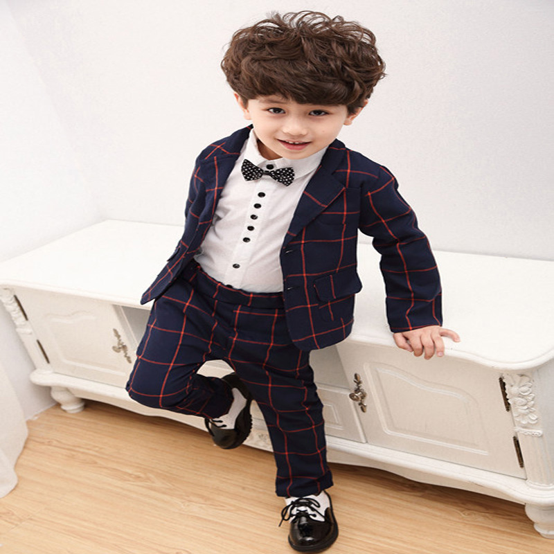Online Shop Boys Blazer Gentleman Boy Party/Wedding Suits Baby Boy ...