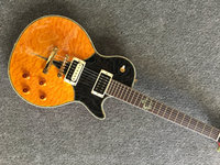 Factory custom LP guitar electric guitar two color quilted maple top Good sound quality free shipping Real photo shoot