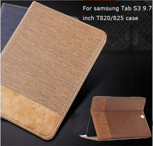 Luxury PU Leather Case For Samsung Galaxy Tab S3 9.7 2016 T820 T825 map Case Cover Funda Fashion Tablet Flip Stand Shell case