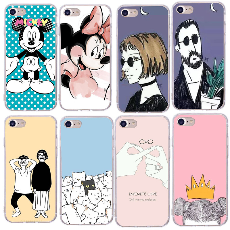 For Fundas <font><b>iPhone</b></font> 7 Case Soft TPU Case For <font><b>Coque</b></font> <font><b>iPhone</b></font> X 7 8 Plus <font><b>6s</b></font> 6 SE 5S 5 Silicone XS Cover Accessories image