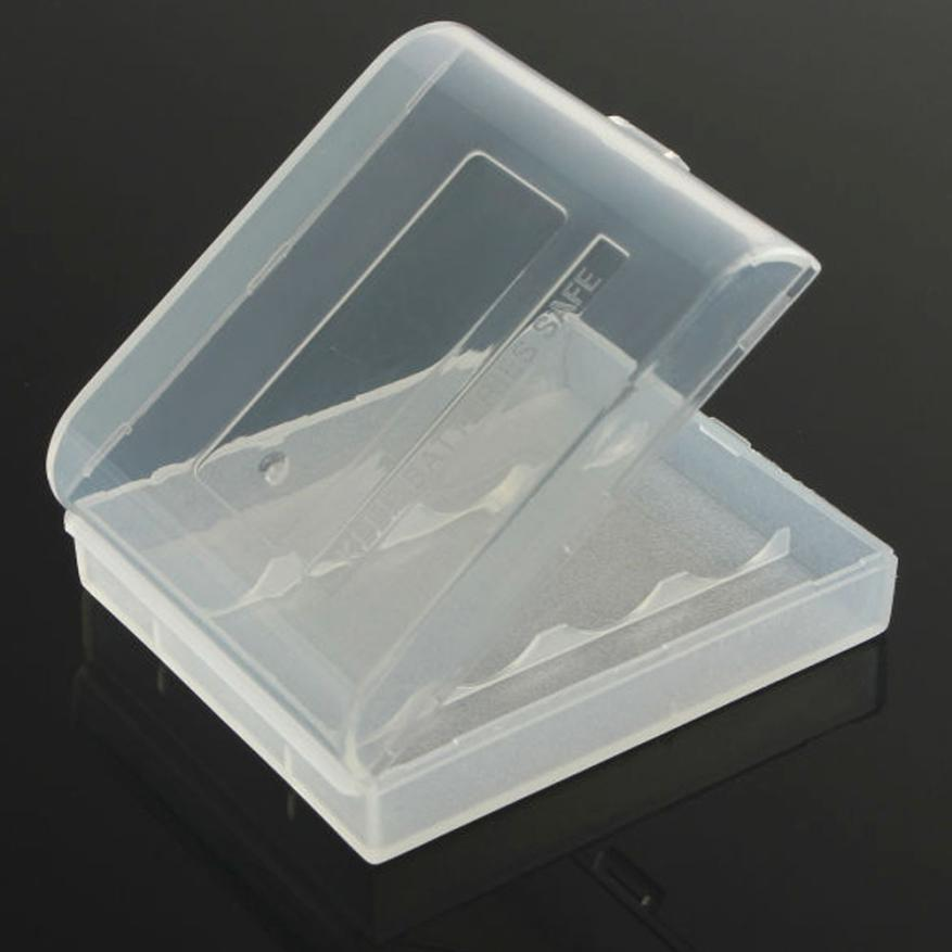 Plastic Hard White Battery Case Storage Box for 4x14500AAt Clear NEW MA11