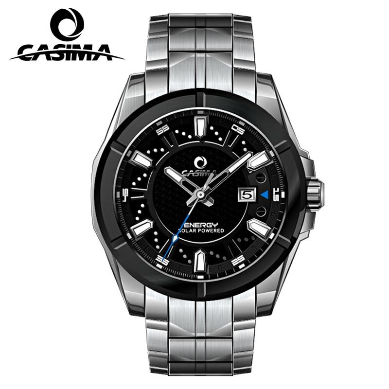 Relogio Masculino CASIMA Военная Униформа кварцевые часы для мужчин солнечной энергии заряда сапфир наручные часы календари часы для мужчин Saat Montre Homme