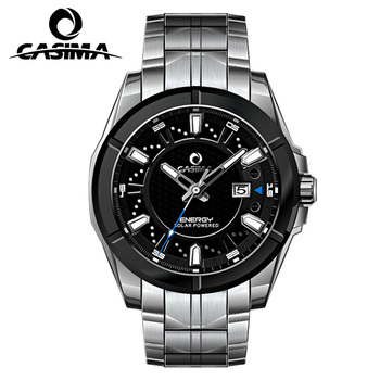 Relogio Masculino CASIMA Military Quartz Watch Men Solar Energy Charge Sapphire Wrist Watch Calendar Clock Men Saat Montre Homme angela bos military watch men waterproof luminous stainless steel stopwatch sport quartz wrist watch clock saat man montre homme