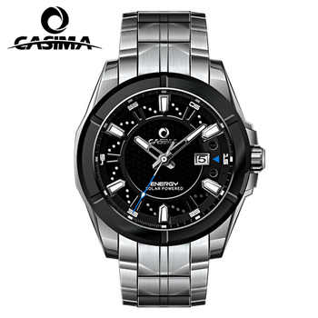 Relogio Masculino CASIMA Military Quartz Watch Men Solar Energy Charge Sapphire Wrist Watch Calendar Clock Men Saat Montre Homme - DISCOUNT ITEM  40% OFF All Category