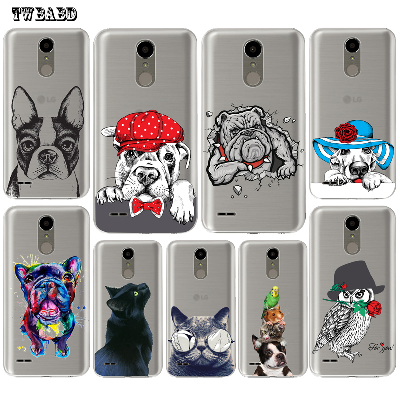 Cool Bulldog cat dog <font><b>Phone</b></font> <font><b>case</b></font> For LG G4 G5 G6 Q6 Q8 K4 K7 K8 <font><b>K10</b></font> 2017 X Screen Power 2 Soft silicone TPU shell for LG U10