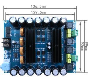 Image 2 - XH M641 TPA3116D2 DC12V 24V 150W X 2 Audio Digita High Power 2 Kanalen Auto Versterker Met Boost Board g2 010